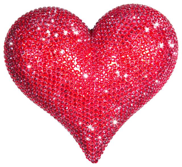 Heart Decor, Red - Contemporary