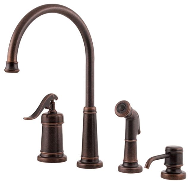 pfister gt26 4ypu ashfield kitchen faucet with spray