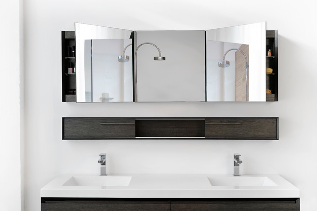 "Mirrored Cabinet 72"" - M Collection - Modern - Bathroom ..."