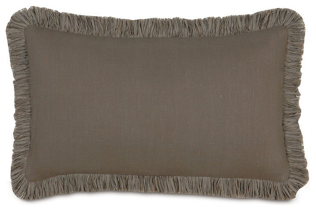 Decorative Pillows With Fringe : Breeze Decorative Lumbar Pillow with Fringe - Traditional - Decorative Pillows