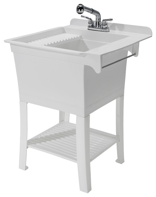 CASHEL The Maddox Workstation – Fully Loaded Sink Kit - Modern - Utility Sinks - by Cashel