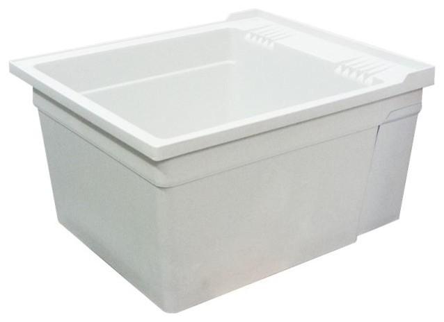 Wall Hung Laundry Tub : Samson Gray Wall-Mounted Laundry Tub - Traditional - Utility Sinks ...
