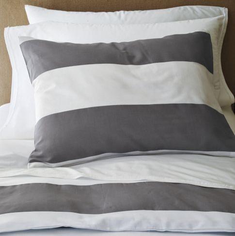 Stripe Duvet Cover - Modern - Duvet Covers & Sets