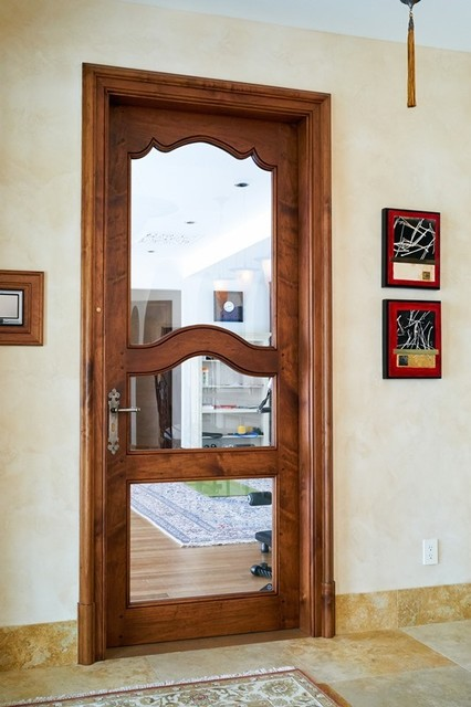 Custom interior wood door mediterranean interior doors for Mediterranean interior doors