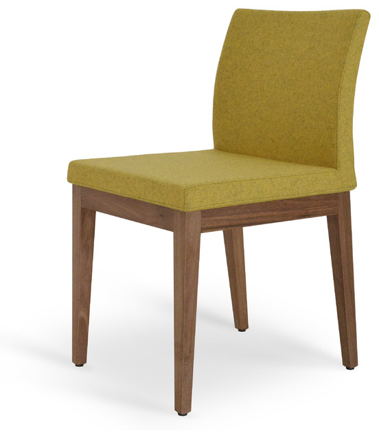 Aria wood amber camira wool contemporary dining for Modern dining chairs toronto