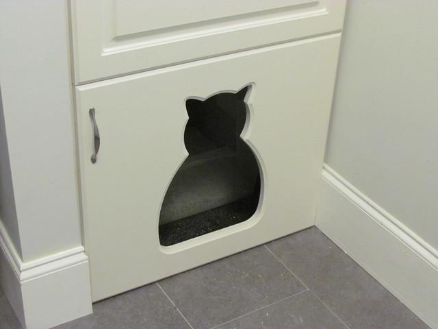 Cat Shape Litter Box Door - Traditional - Laundry Room ...