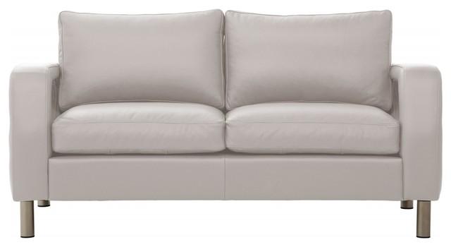 2 sitzer sofa omnia 222 i leder hellgrau moderne canap par fashion4home gmbh. Black Bedroom Furniture Sets. Home Design Ideas