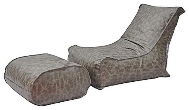 Modern Bean Bag Inc Zen Chair Grey Modern Indoor Chaise Lounge Chairs
