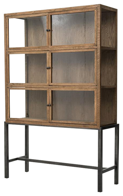 Sterling Curio Cabinet Drifted Oak industrial-china ...