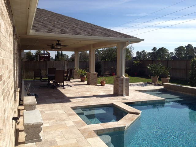 Custom patio covers houston traditional houston by for Affordable pools houston texas