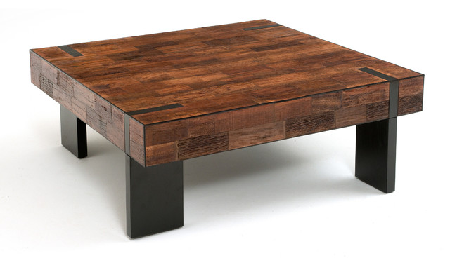 Reclaimed Wood Modern Rustic Coffee Table Modern Other