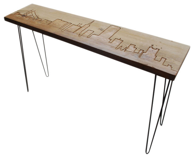 Los angeles reclaimed wood console table standard 72 for Sofa table 72