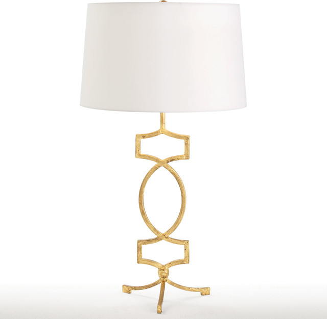 Arteriors Cooper Gold Leaf Table Lamp