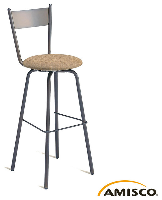 Amisco Crystal Swivel Stool Modern Furniture Los