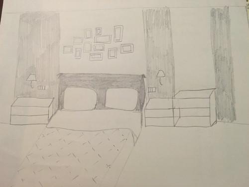 Quale fantasia per parete letto su pavimento rosa
