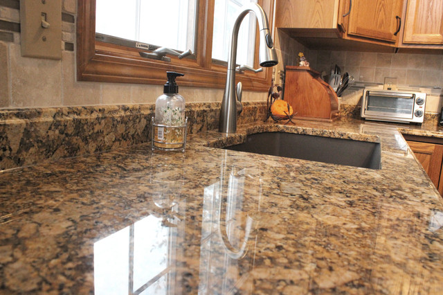 Granite Countertop with Tile Backsplash ~ Middleburg Heights, OH ...