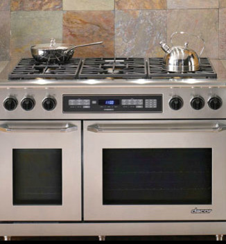 Discovery 48 dual fuel range by dacor contemporary for Dacor 48 range