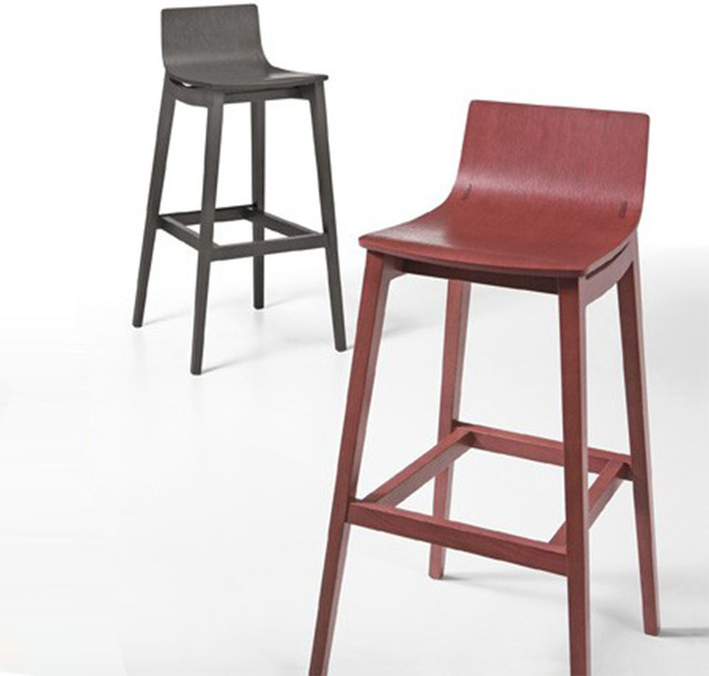modern solid wood bar stool by infiniti design