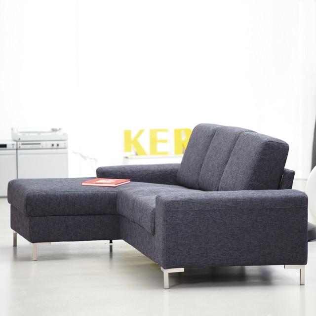 kopenhagen sofa mit longchair links in stoff moderno. Black Bedroom Furniture Sets. Home Design Ideas