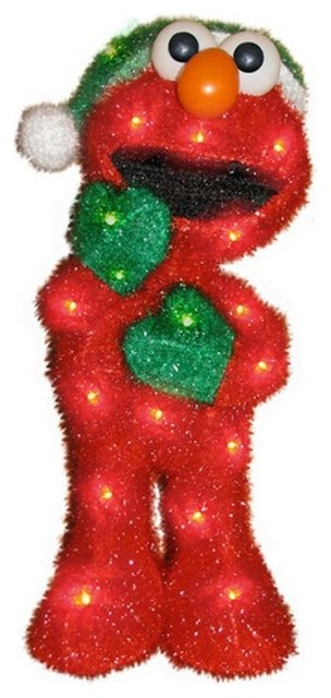 Pre-Lit Soft Sesame Street Elmo Christmas Yard Art ...