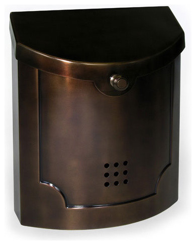 traditional wall mount mailbox black 2