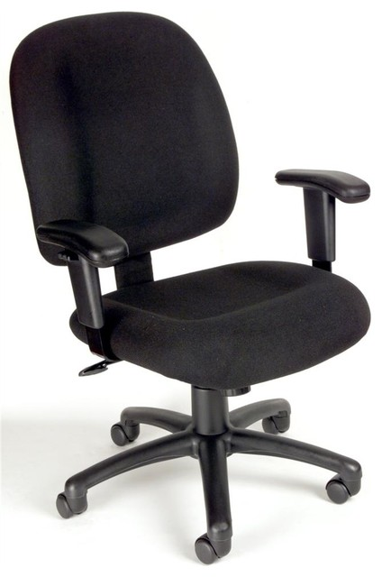 Desk Chair W Casters Adjustable Armrests B Contemporary Office Cha