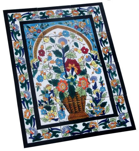 fliesenbild balu 45x60 cm mediterran fliesen von. Black Bedroom Furniture Sets. Home Design Ideas