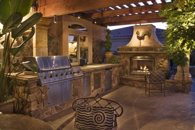 Luxurious mediterranean outdoor living mediterranean for Luxury outdoor living spaces