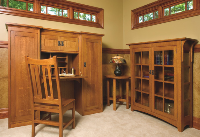 Mission style white oak office furniture craftsman for Mission style furniture