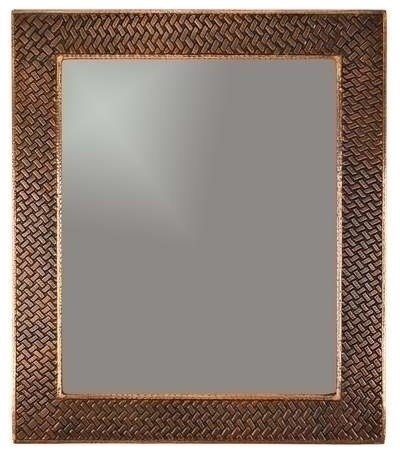 Copper Mirror Braid Rustic Bathroom Mirrors By Plfixtures
