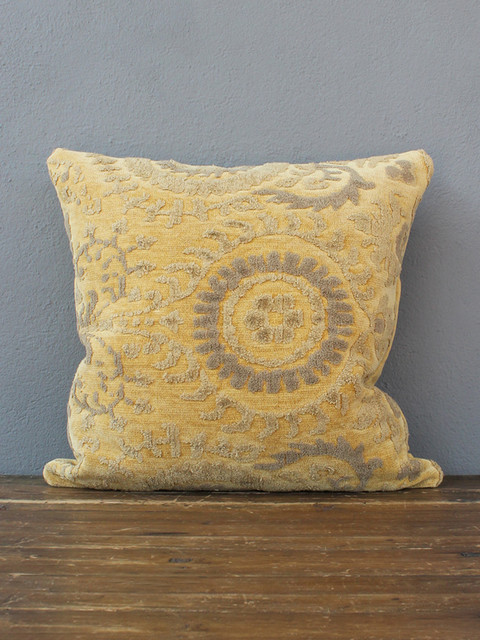 Eclectic Decorative Pillows : grimsley pillow ? butter - Eclectic - Decorative Pillows - austin - by red: modern lines ...