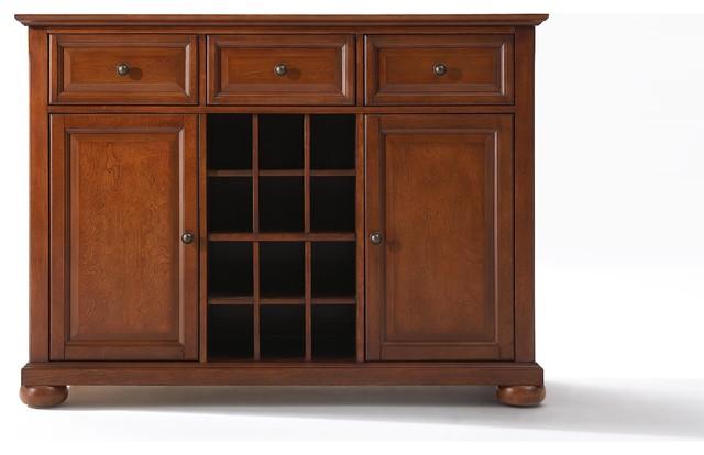 Crosley furniture alexandria buffet server sideboard for Bad sideboard
