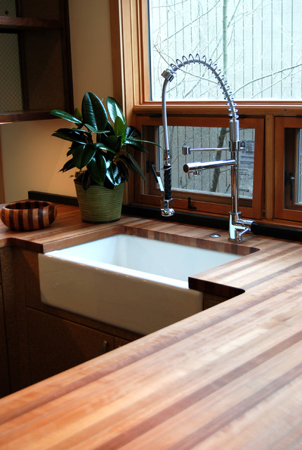 Off White Kitchen Cabinets With Butcher Block Countertops : Butcher Block Countertops - Kitchen Countertops - Other - by Green Depot
