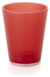 Pop Red Acrylic 15 oz. Drink Glass - Contemporary - Outdoor Drinkware