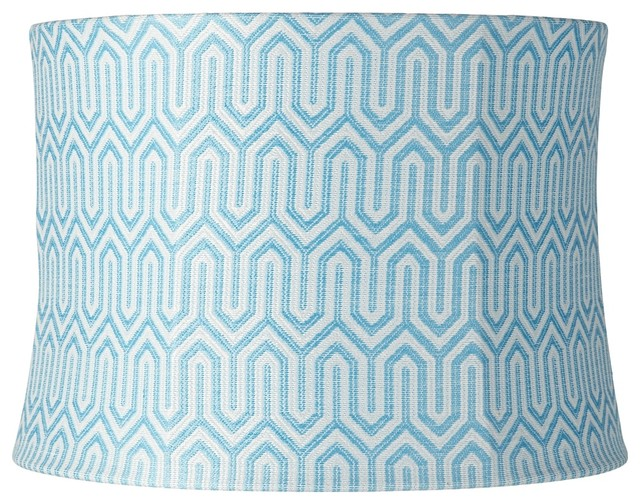 aqua blue tokyo maze drum lamp shade 14x16x11 spider. Black Bedroom Furniture Sets. Home Design Ideas