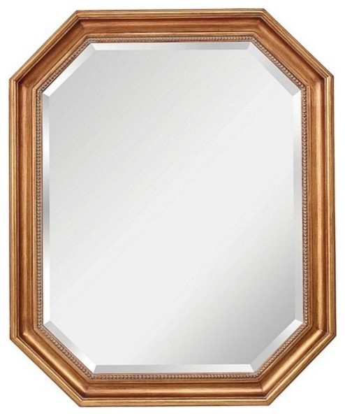 Murray Feiss Marisa Dark Antique Gold Mirror Mr1161dag Contemporary Wall Mirrors By