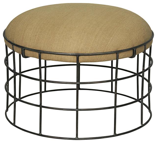 noir furniture africa ottoman metal burlap industriel repose pieds pouf et cube par. Black Bedroom Furniture Sets. Home Design Ideas