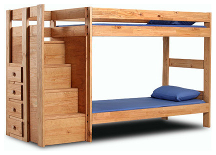 bunk beds wooden with stairs 2