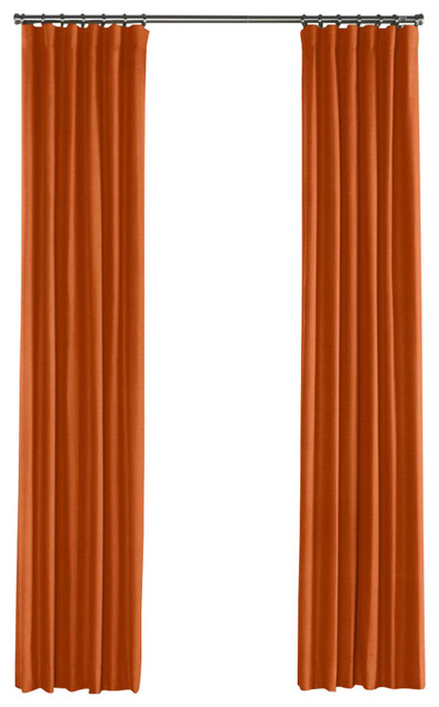 orange linen curtain single panel ring top contemporary curtains
