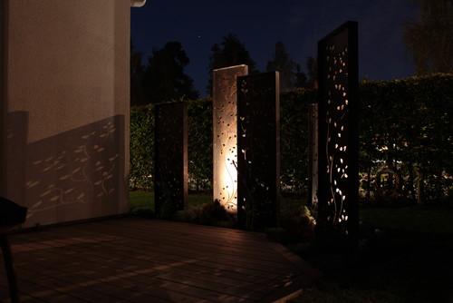 skärmar trädgård