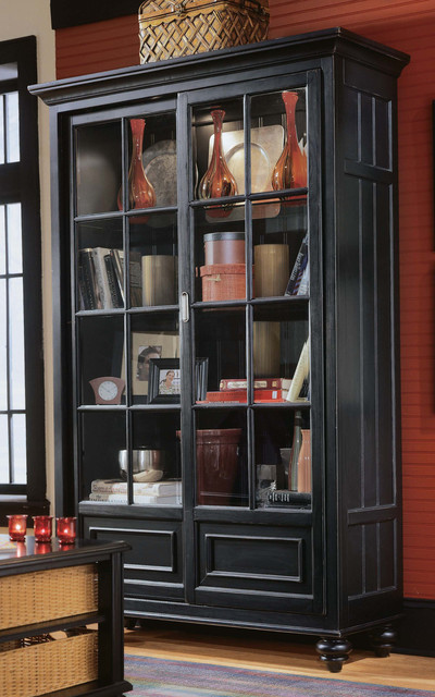 American Drew Camden Bookcase China Cabinet Transitional