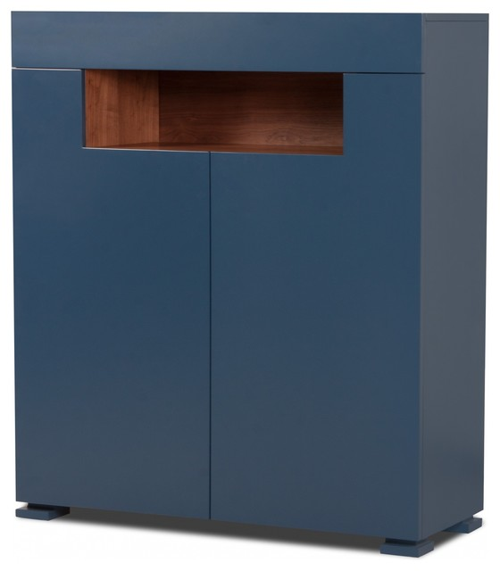 highboard palermo blau walnuss contemporary sideboards