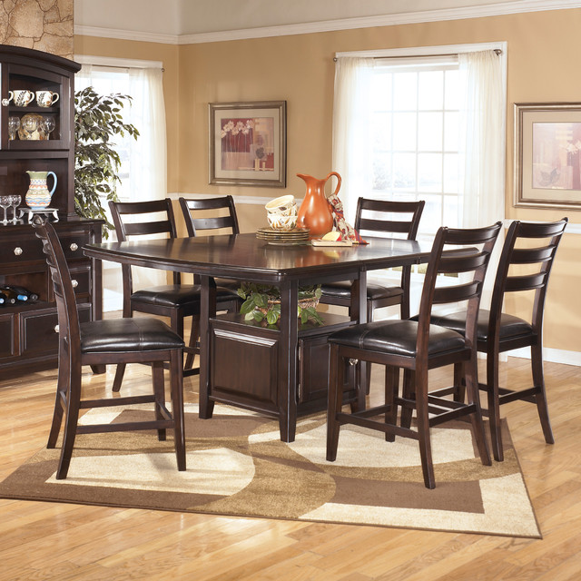 signature design by ashley 39 ridgley 39 square dark brown