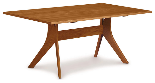 Copeland furniture audrey 40 x 72 fixed top dining table for Table 6 fixed costs