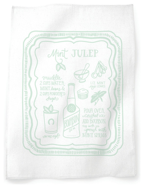Mint Julep Tea Towel - Modern - Dish Towels - by Belle & Union