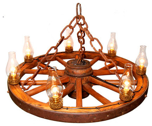 36 Quot Wagon Wheel Chandelier Rustic Chandeliers By