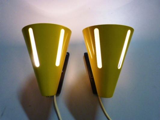 lampen von h busquet f r hala zeist 2er set mid century wandbeleuchtung von pamono gmbh. Black Bedroom Furniture Sets. Home Design Ideas