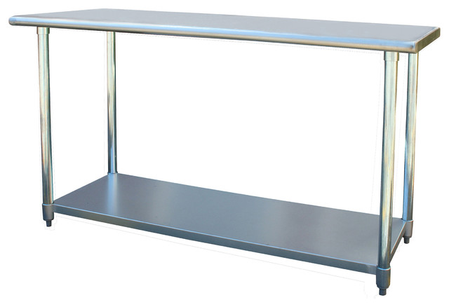 Sportsman Series Stainless Steel Work Table 24 X 60 Inches Modern Kitchen Islands And