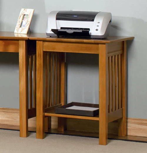 Mission Printer Stand with Shelf in Caramel Latte - Contemporary - Desks And Hutches - new york ...
