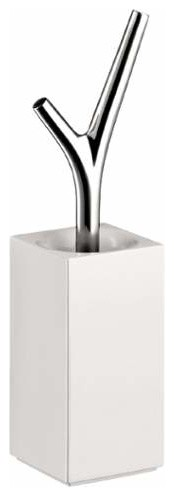 Hansgrohe Axor Massaud Toilet Brush With Holder And Porcelain Vessel Modern